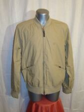 Men's TIMBERLAND DELRIDGE beige casual zip up bomber jacket sz M GREAT cond