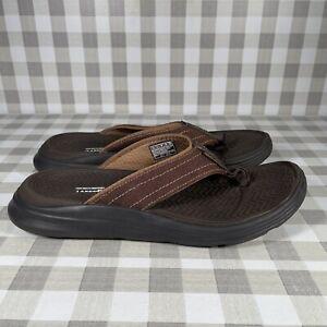 Skechers Men's Sandals Relaxed Fit Memory Foam 360 Brown Size 12