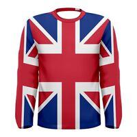 New British Flag Sublimated Men's Long Sleeve T-shirt S M L XL 2XL 3XL
