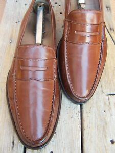 COLE HAAN Mens Dress Shoes Mahogany Brown Leather Slip On Penny Loafer Size 9.5M