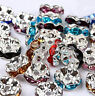 Wholesale 50pcs/pack Czech Crystal Spacer Rondelle Beads Charm Findings 8mm
