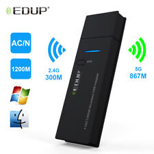 EDUP 1200Mbps USB Dual Band WiFi Adapter 5Ghz Wireless Network LAN 11ac/n for PC