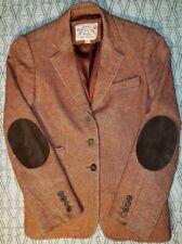 Vtg Banana Republic Travel Safari Jacket tweed Women's Size 6 patch elbows