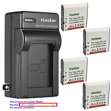 Kastar Battery Wall Charger for Casio NP-40 & Casio Exilim Zoom EX-Z650 Camera