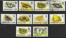 Swaziland , nice group of Butterflies , values to E5 Fine Used