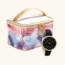 YVES ROCHER Watch and Cosmetic Bag New