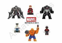 Lego Marvel Minifigures XMen Avengers Stan Lee Spider Man Wolverine Venom Hulk