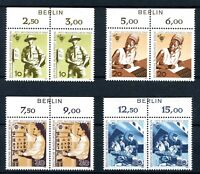 Berlin waag. Paare Zudruck Berlin MiNr. 342-45 postfrisch MNH (D489