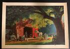 1964 Vintage PAUL DETLEFSEN Lithograph Print The Smithy 14 X 20 McDonald Art Co