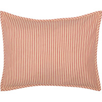 SAWYER MILL RED Ticking Stripe Standard Sham Farmhouse White Cotton VHC Brands
