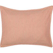 SAWYER MILL RED Ticking Stripe Standard Sham Farmhouse White Cotton VHC Brands