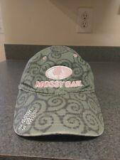 Women's Mossy Oak Hat Cap Pink Rhinestones Gray Baseball Hat Est.1986