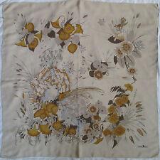 -Superbe grand Foulard CHRISTIAN KOBAN 100% soie  TBEG vintage scarf