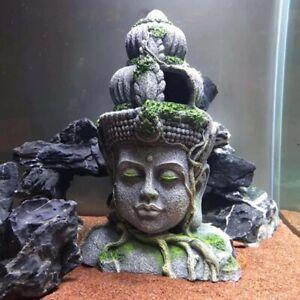 Free Shipping Aquarium Fish Tank Resin Ornament Landscape Decor Temple Statue