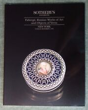 Sotheby's FABERGE, RUSSIAN WORKS OF ART, OBJECTS OF VERTU 12/1994 NY