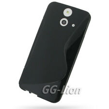 Black. Gel Rubber pure TPU Silicone S-Line Case Skin Cover for HTC ONE (E8)