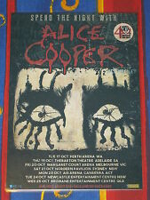 ALICE COOPER - ACE FREHLEY - 2017 Australia Laminated Tour Poster