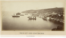 France, Nice et ses Environs, Villefranche Vintage albumen print.  Tirage albu