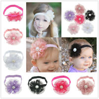 Wholesale 6Pcs Lace Flower Headband Hair Band Accessories Set For Baby Infant