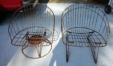 Mid century Woodard?  Salterini? metal wire barrel chairs one rocker Homecrest