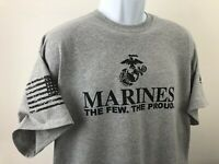 Marine Corps The few the Proud TShirt Military USMC American Warrior USMC