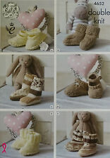 KNITTING PATTERN Baby Socks Shoes Bootees Cherished DK King Cole 4652