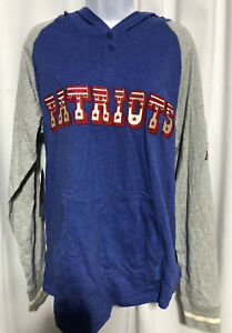NFL Throwback Mitchel & Ness Women's Patriots Hoodie New With Tags Size LG
