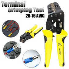 RATCHET CRIMPER PLIER CRIMPING TOOL CABLE WIRE ELECTRICAL TERMINALS 0.14-1.5mm
