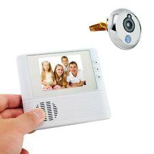 LCD Monitor Digital Door Peephole Viewer Home Security Camera Cam Doorbell