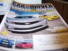Car & Driver Magazine 6/2009 Camaro vs. Genesis