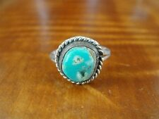 925 Ring Size 6 1/2 Turquoise Nugget Stone Sterling Silver