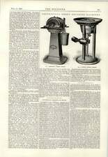 1893 Centrifugal Emery Grinding Machines Engineering Drawing