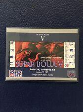 BALTIMORE COLTS 1990 Pro Set SUPER BOWL V Ticket Stub #5  MINT