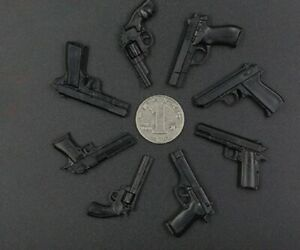 """1/6 Scale Gun Weapons Pistol Guns Military For 12"""" Action Figure Toy DID BBI UK"""