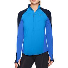 Under Armour UA ColdGear Ladies 1/2 Zip Blue Long Sleeved Running Top