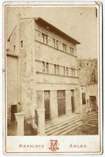 Photo cdv cab.La Maison romane de Saint-Gilles du Gard 1880 Mephisto Arles