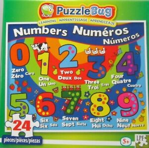 Numbers Learining Educational Puzzle 24 pieces Brand New Sealed
