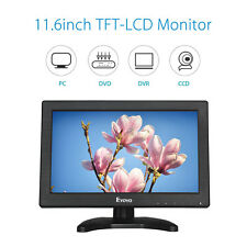 "Eyoyo 12 ""LCD Full HD 1366X768 Video Audio Schermo Monitor HDMI Fr CCTV DVR DVD"