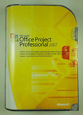 MS Project 2007 Professional Pro DVD Retail Box 32 Bit +1 CAL Deutsch H30-01858