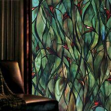 3D Orchidee Buntglas Fenster Films Statisch Haften Glas Aufkleber Privatsphäre