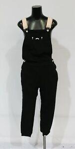 Tsuki Market Unisex Why Are You Sad Cropped Fleece Overalls SV3 Black Small NWT