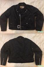 VTG SCHOTT CLASSIC 2XL *PERFECTO* #918 NYLON MOTORCYCLE/MOTO/BIKER JACKET PUNK