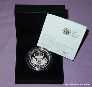 2010 ROYAL MINT SILVER PIEDFORT PROOF £5 CROWN - CASED WITH COA