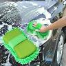 Microfaser Mikrofaser Reinigungsbürste Auto Schwamm Tuch Handtuch Grün Gree Z7T3