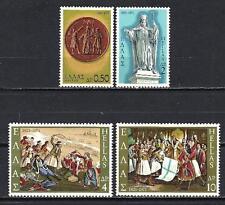 Grèce -Greece 1971 guerre d'indépendance Yvert n° 1040 à 1043 neuf ** 1er choix
