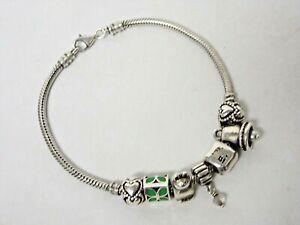 4 PCS Fish clasp charm bracelets chain braceletsE18945