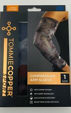 Tommie Copper Sport Compression Arm Sleeve Joint Pain Relief L/XL Camo -  D19