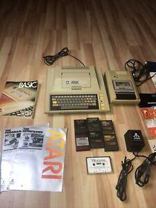 Vintage Atari 400 410 System Computer Keyboard w/ Game Cartridges & Cassettes