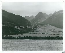 View of Beautiful Montana Mountains Original News Service Photo