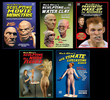 ART SCULPTURE LIFE-CASTING MOLD-MAKING PROSTHETIC MAKE-UP 5 DVDs by Mark Alfrey